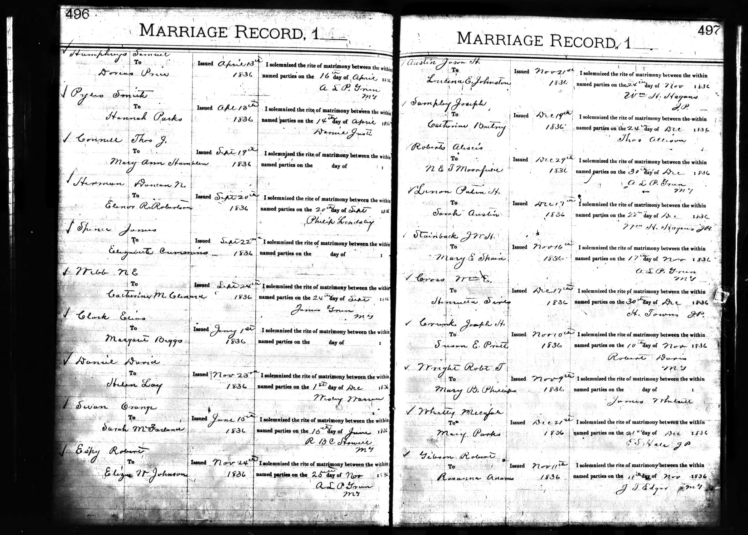 robertson county tn marriage records