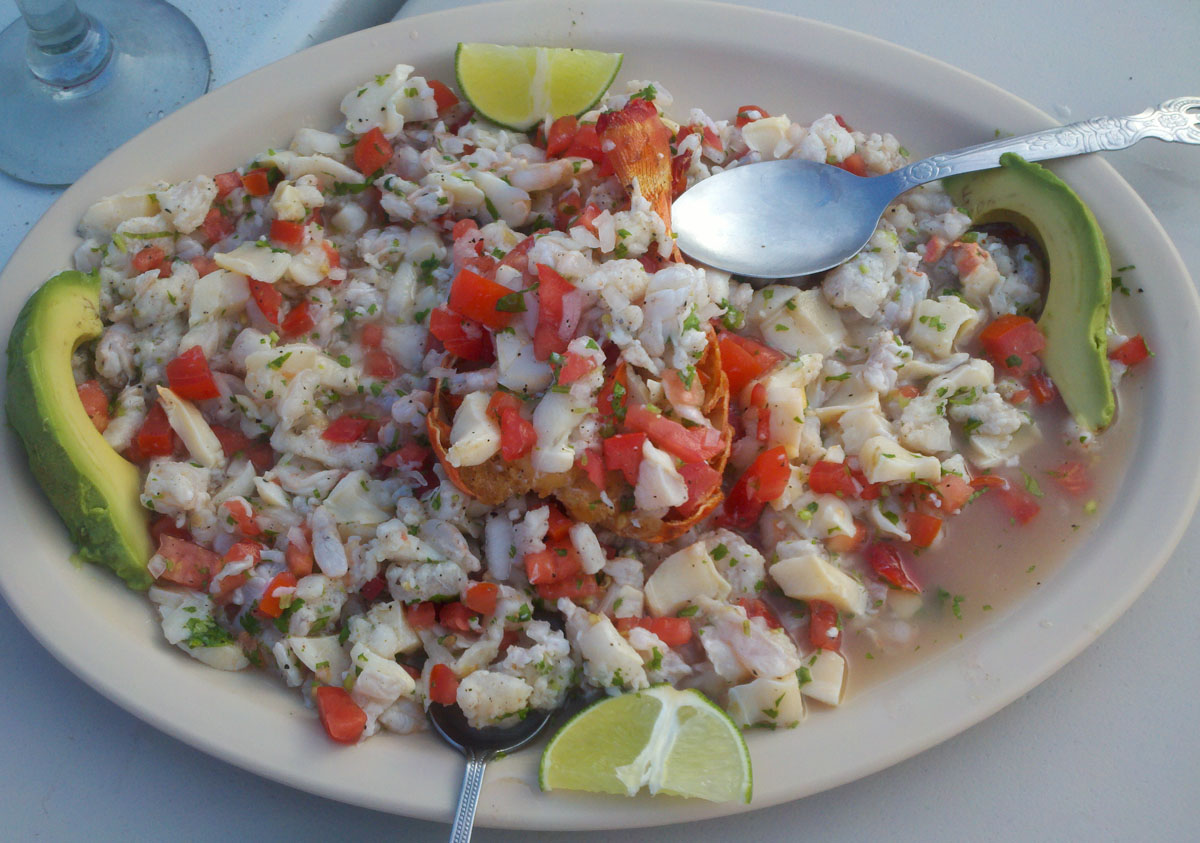 Mixed seafood (with lobster) ceviche. This was hands-down the best I ...