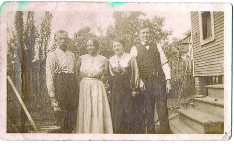 His wife lizzie starks and her sister rada starks and her husband