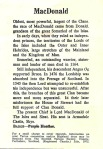MacDonald clan info sheet