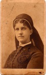 Could this be Maggie Bowie, his sister? Photo was taken by H. McMichael, 1871-1881 in Buffalo, New York. Is that a nun's wimple?