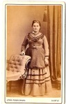 Scot lady, fringed dress, Penny, Huntly