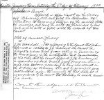 James Frank Bowie application for Naturalization