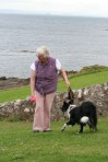 scot-crail, lady with border collie