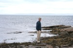 scot, crail, wally on north sea beach