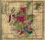 1808 Scotland Map -  note Murray Firth later becomes Moray Firth up in northeast corner
