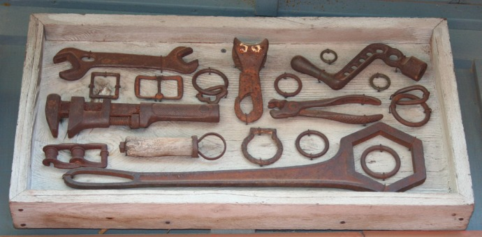 sedona-old tool parts framed