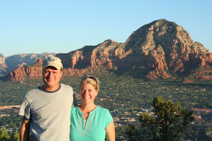 sedona sunrise, jamie, wally