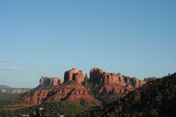 sedona, sunset on buttes