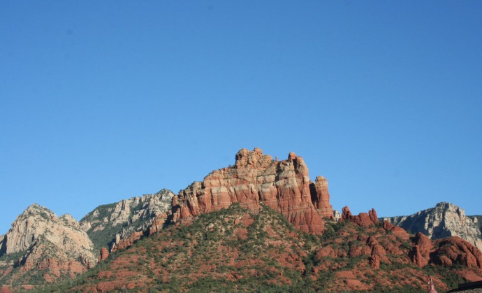 slide rock view of mtn