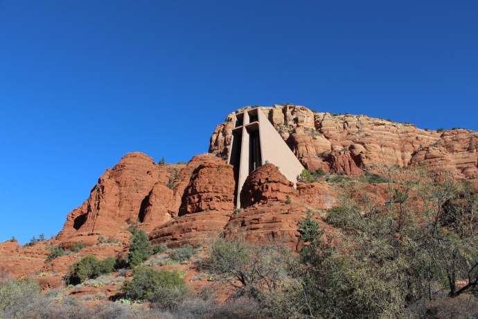 AZ, Chapel in Rocks side view