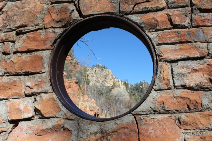 AZ, Sedona, West Fork Trail round window