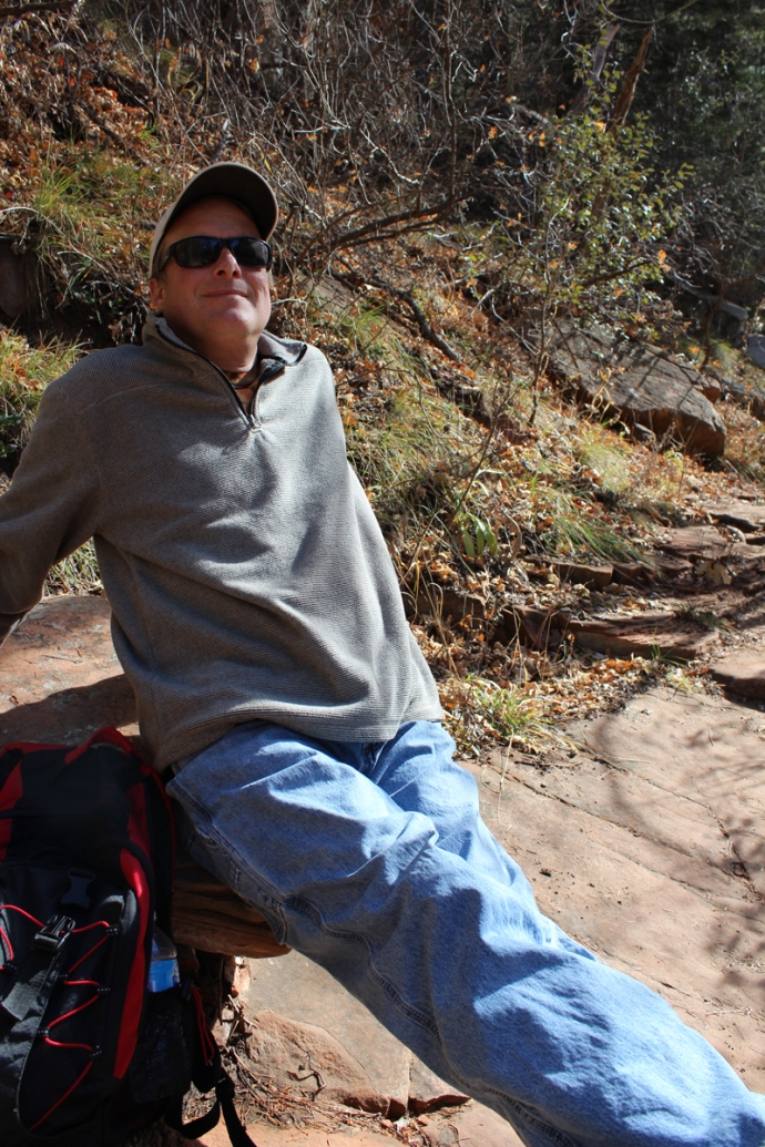 AZ, Sedona West Fork, Wally resting