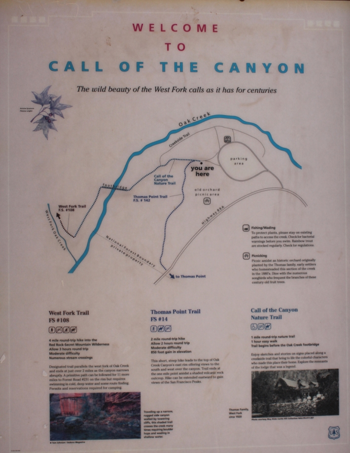 AZ, West Fork Trail sign