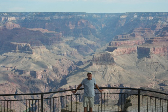 grand canyon, wally on overlook