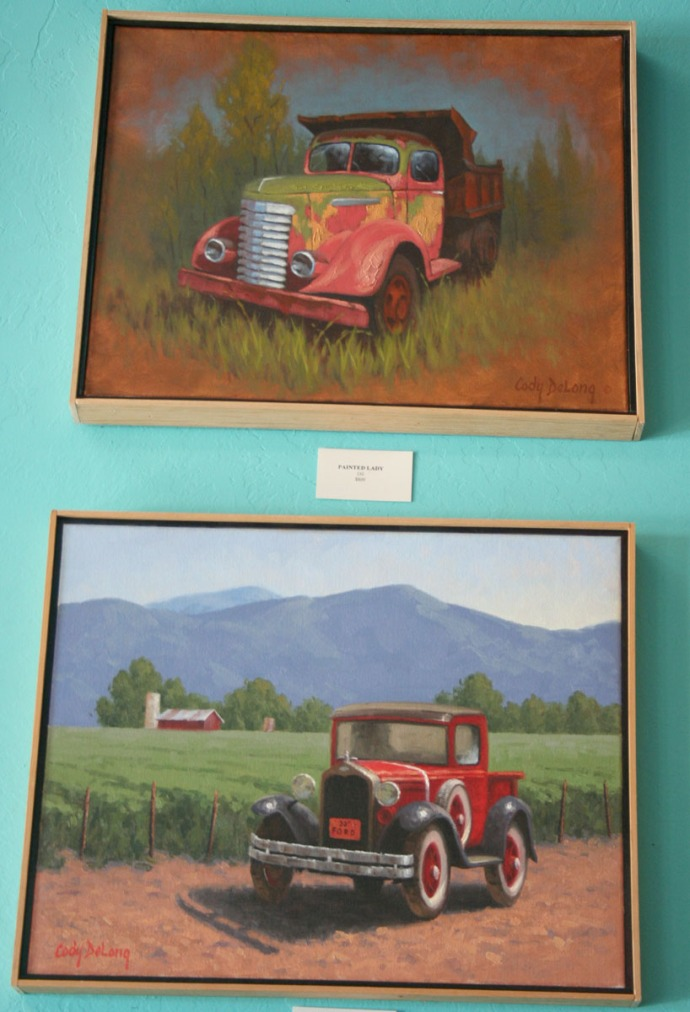 jerome, antique trucks, quince cafe
