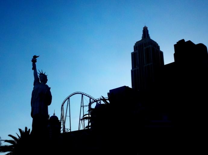 LV-NYNY silhouette