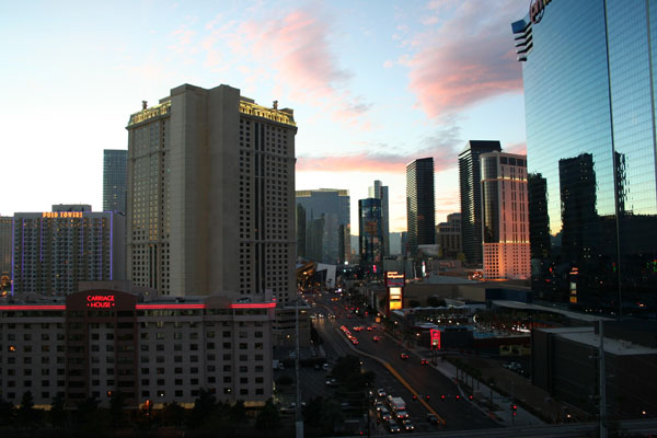 LV sunset from room