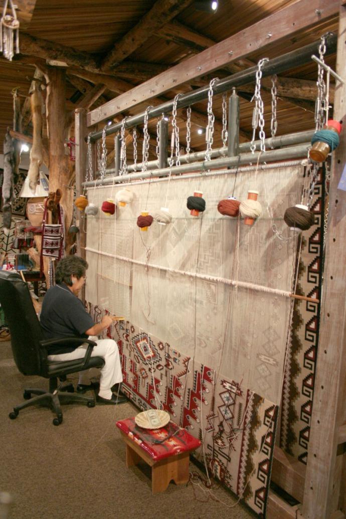 navajo weaver, cameron