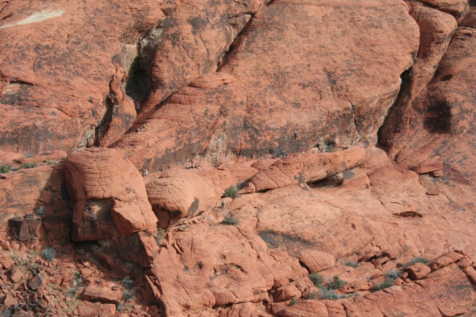 Red Rock, rock climbers