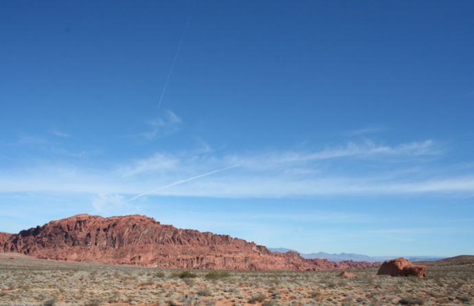 valley of fire far off view