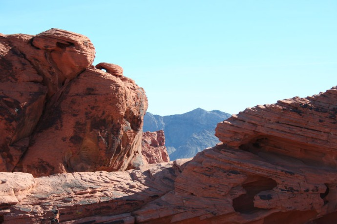 valley of fire rocks, hori