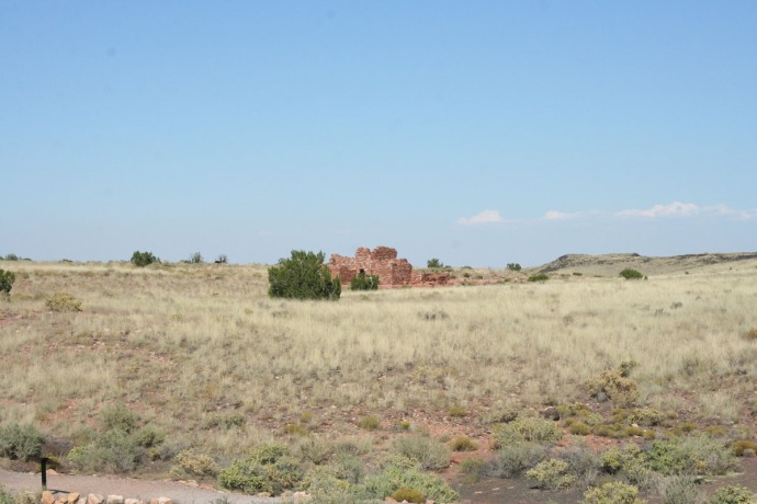wupatki pueblo in field