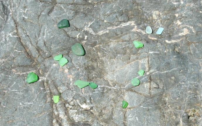 Glass Bch-green glass
