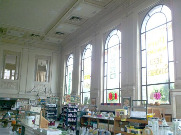 Heirloom seed bank windows
