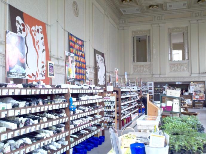 Heirloom Seed, seed shelves