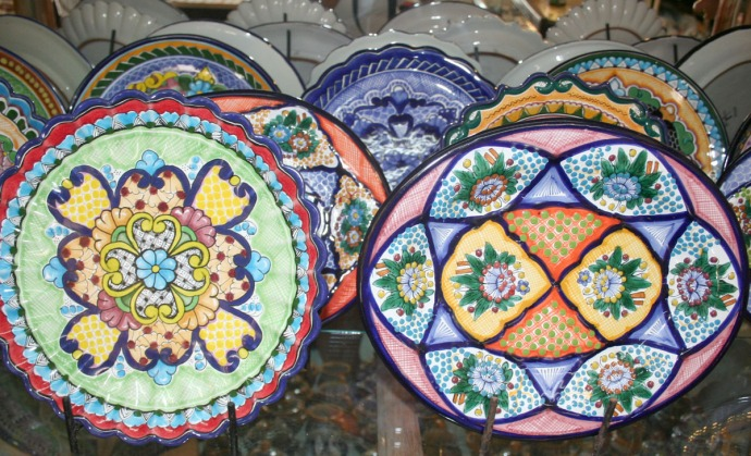 mexi pottery plates