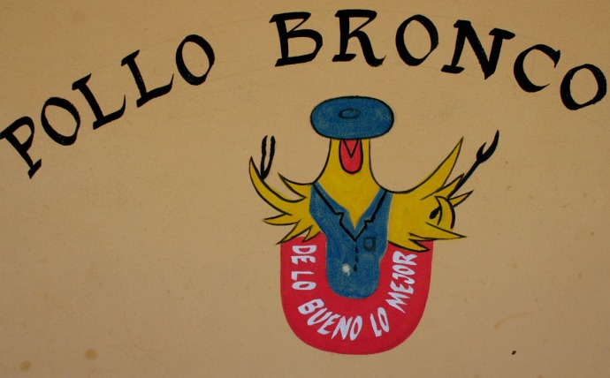 pollo bronco sign