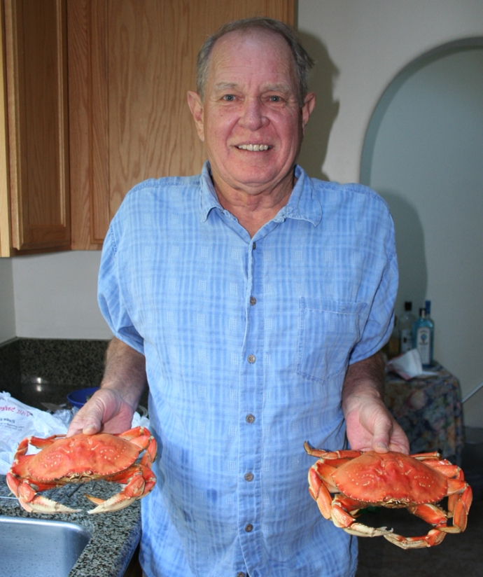Ron with crabs