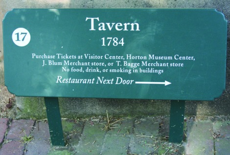 salem tavern sign