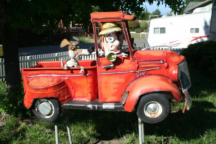 Sebast art-red truck