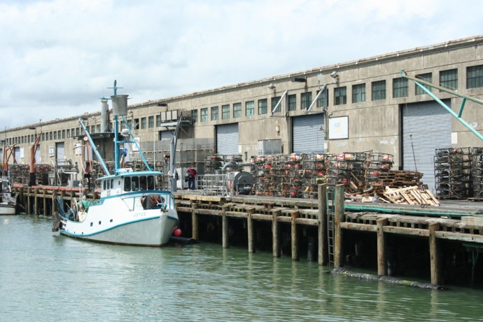 SF-Fisherman's Wharf, crab traps dock