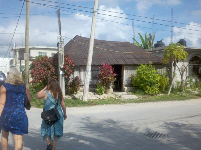 Tulum, Liz & Nett, traditional Maya house