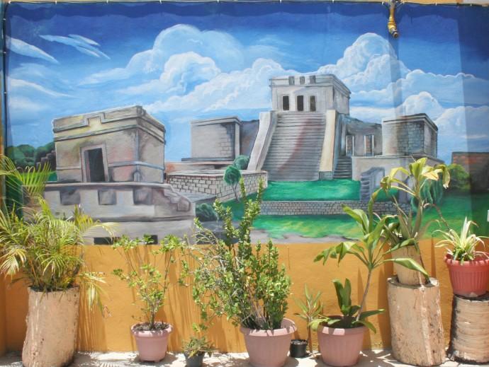 tulum ruins mural, tulum