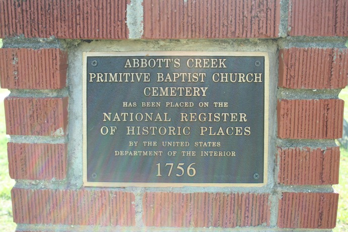 AC Primitive Baptist Natl Reg marker,