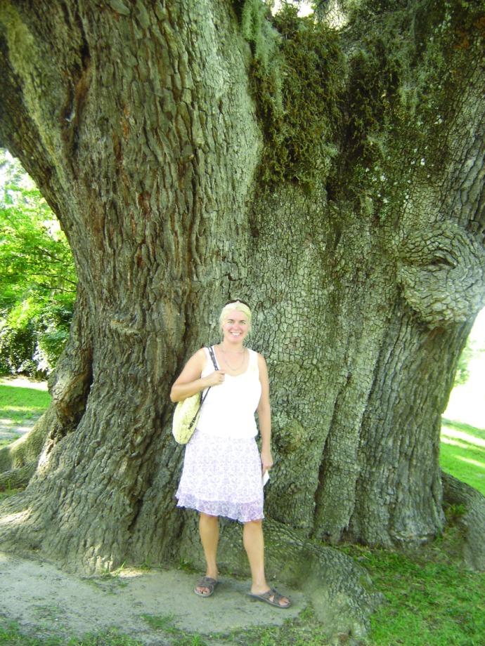 Jamie at Middleton Place tree