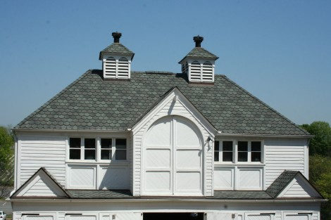 Old Salem bldg top, slate roof
