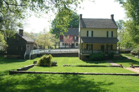 Old Salem houses, yard