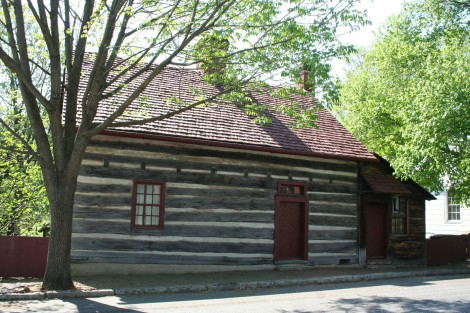 Old Salem log building