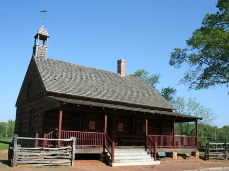 Old Salem log schoolhouse?