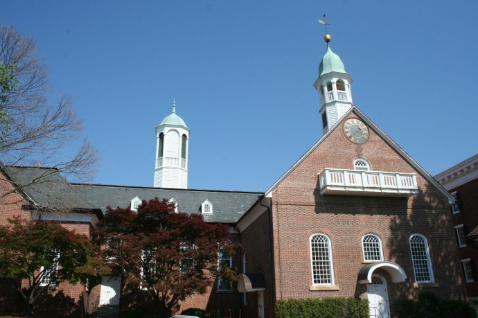 Old Salem Moravian Church closeup