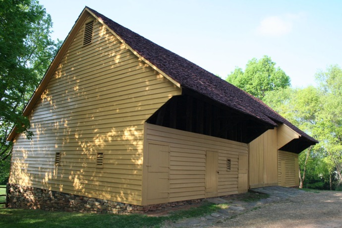 Old Salem yellow barn