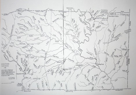 Rowan Co 1780 map