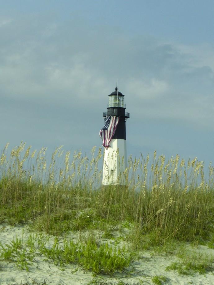 Tybee Island lighthouse, sea oats