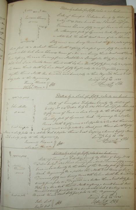 Clianrd, Miller, Duncan, 1825 surveys