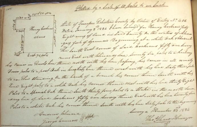 Cothran, henry, 48 acres, 1826, Clinard cb